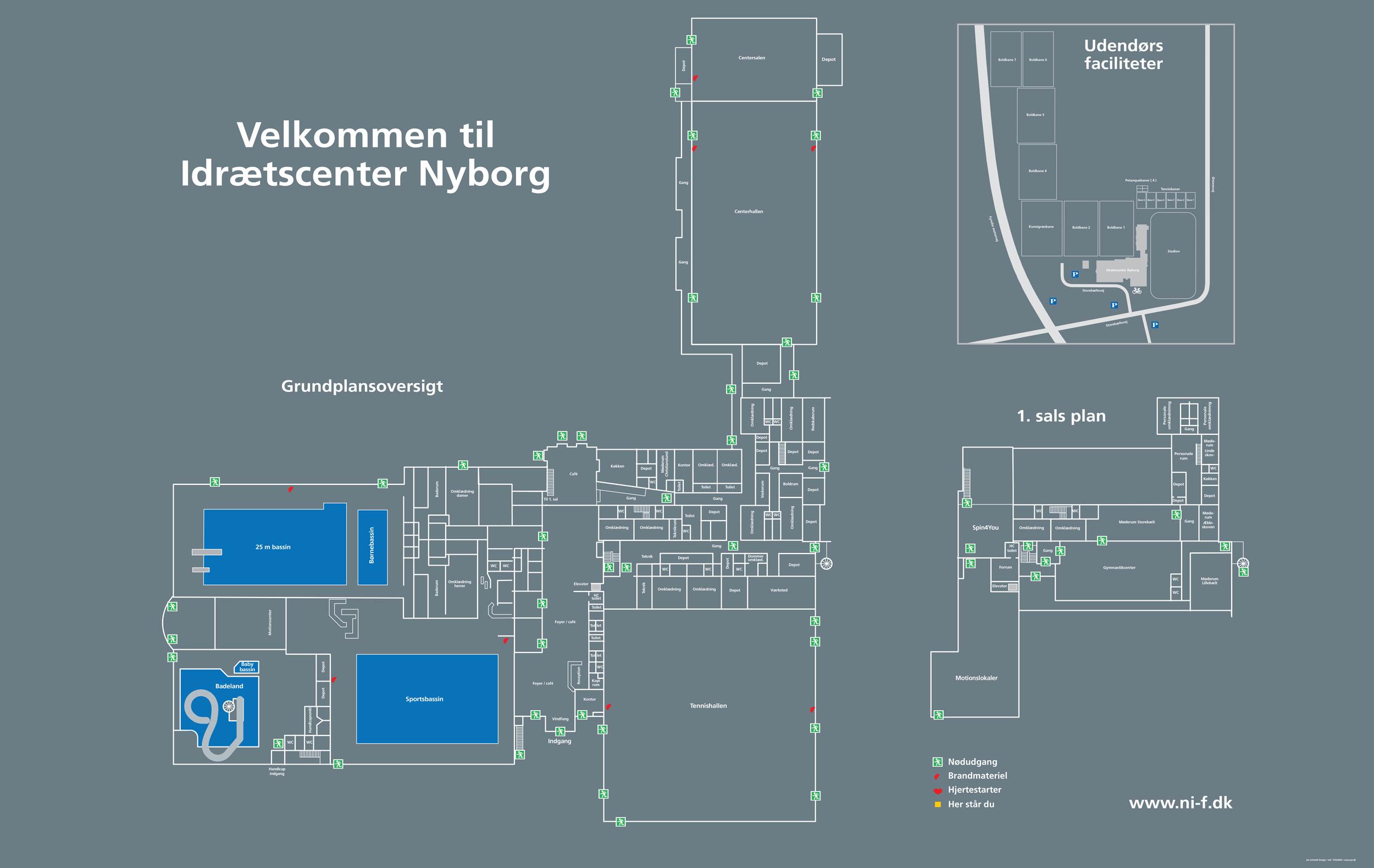 Oversigt Pa Kort Nyborg Idraets Og Fritidscenter